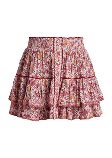 Poupette St Barth Camilla Spotted Floral Mini Skirt
