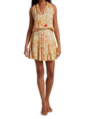 Poupette St Barth Clara Floral Ruffled Mini Dress