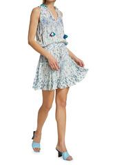 Poupette St Barth Clara Printed Mini Dress