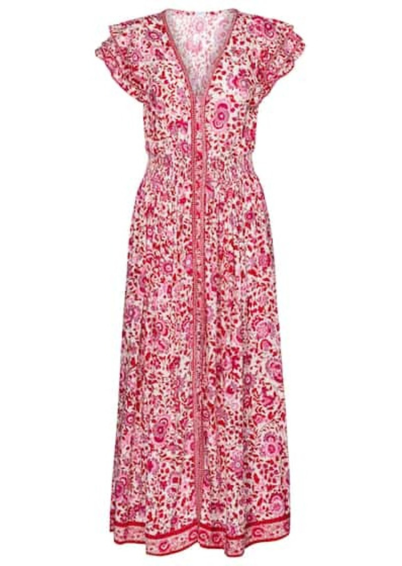 Poupette St Barth Della floral maxi dress