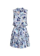 Poupette St Barth Felicia Sleeveless Floral Mini Dress
