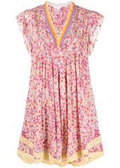 Poupette St Barth floral flared mini dress