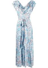Poupette St Barth floral wrap maxi dress