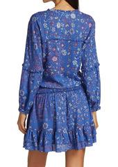 Poupette St Barth Ilona Long-Sleeve Mini Dress