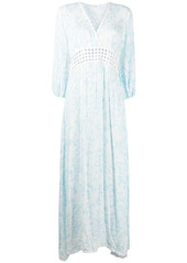 Poupette St Barth long-sleeve flared dress