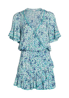 Poupette St Barth Mabelle Ruffle Floral Mini A-Line Dress