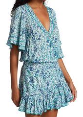 Poupette St Barth Mabelle Ruffle Floral Mini A-Line Dress