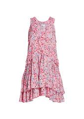 Poupette St Barth Mae Ditsy Floral Ruffled Mini Dress