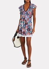Poupette St Barth Mila Lace-Trimmed Mini Dress