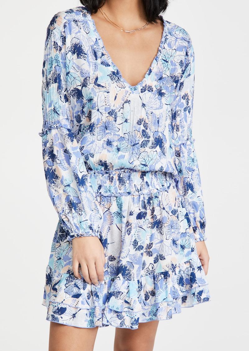 Poupette St Barth Ilona Long Sleeve Mini Dress