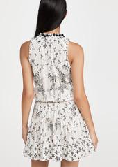Poupette St Barth Mini Dress Clara Ruffled Dress
