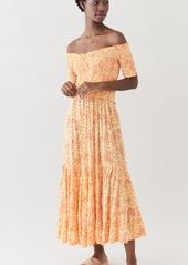 Poupette St Barth Soledad Off Shoulder Midi Dress
