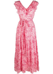 Poupette St Barth ruffle-trim maxi dress