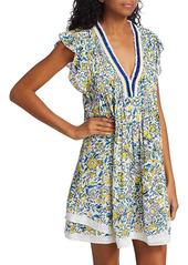 Poupette St Barth Sasha Floral Print Dress