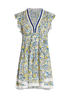 Poupette St Barth Sasha Floral Print Dress