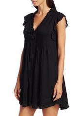 Poupette St Barth Sasha Flutter Sleeve Mini Dress