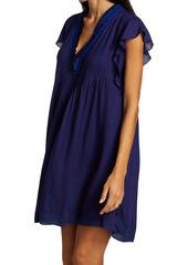 Poupette St Barth Sasha Lace-Trim Mini Dress