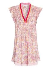Poupette St Barth Sasha Lace-Trimmed Mini Dress