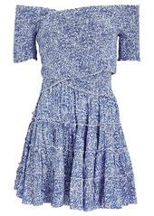 Poupette St Barth Soledad Off-The-Shoulder Mini Dress