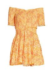 Poupette St Barth Soledad Printed Mini Dress