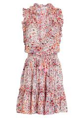 Poupette St Barth Trinity Sleeveless Floral Mini Dress