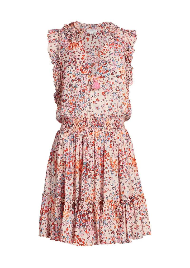 Poupette St Barth Triny Floral-Print Mini Dress