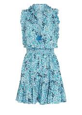 Poupette St Barth Trinity Ruffled Sleeveless Floral Dress