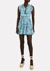 Poupette St Barth Trinity Ruffled Sleeveless Floral Dress