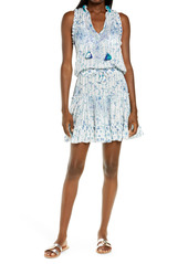 Women's Poupette St Barth Clara Batik Print Ruffle Cover-Up Dress