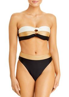 PQ Swim Colorblocked High Waist Bikini Bottom