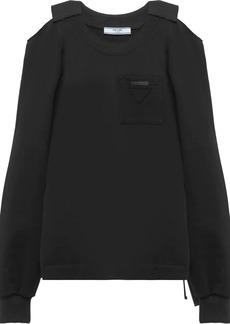 Prada cold shoulder sweatshirt