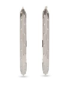 Prada embossed hoop earrings