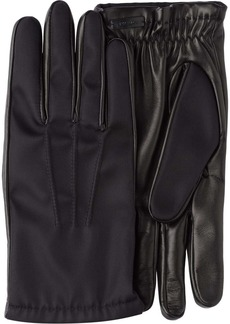 Prada Fabric and leather gloves