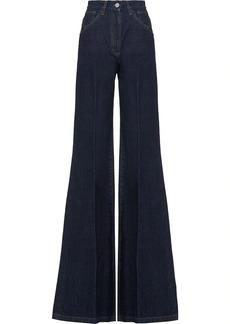 Prada high-waisted flared jeans