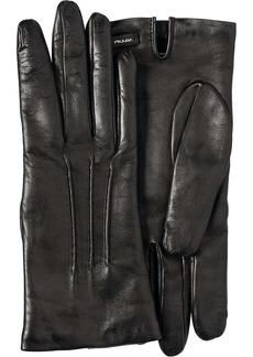 Prada logo-plaque slip-on gloves