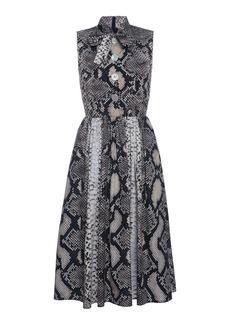 Prada - Women's Animal Print Scarf Neck Dress - Animal - Moda Operandi