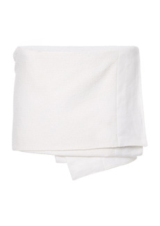 Prada - Women's Asymmetric Wrap-Effect Cotton-Blend Mini Skirt - White - Moda Operandi