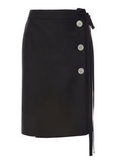 Prada - Women's Button-Embellished Mohair-Blend Skirt - Black - Moda Operandi