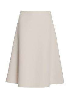 Prada - Women's Cashgora A-Line Midi Skirt - Neutral - Moda Operandi