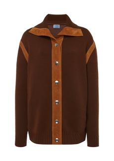 Prada - Women's Cashmere Button Down Top - Brown - Moda Operandi