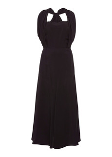 Prada - Women's Chiffon Midi Dress - Black - Moda Operandi