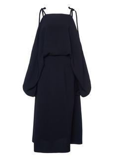 Prada - Women's Cold Shoulder Tie Detail Midi Dress - Black - Moda Operandi