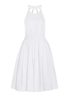 Prada - Women's Cotton Mini Halter Dress - White - Moda Operandi