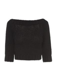 Prada - Women's Cropped Cashmere Sweater - Black - Moda Operandi