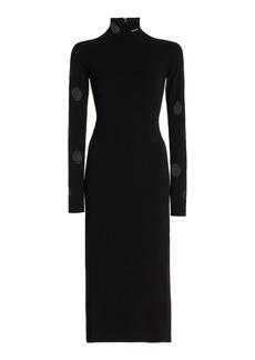 Prada - Women's Cutout Jersey Midi Dress - Black - Moda Operandi