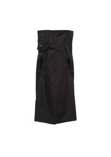 Prada - Women's Draped Gabardine Raincoat - Black - Moda Operandi