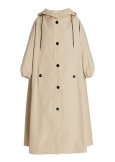 Prada - Women's Hooded Shell Trench Coat - Neutral/navy - Moda Operandi