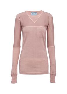 Prada - Women's Knit Cashmere Top - Neutral - Moda Operandi