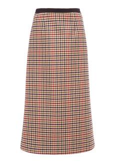 Prada - Women's Plaid A-line Midi Skirt  - Plaid - Moda Operandi
