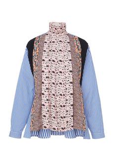 Prada - Women's Pleated Patchwork Shirt - Print - Moda Operandi